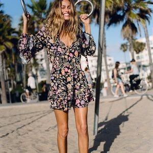 Spell SAYULITA FRILL MINI DRESS Size XS NWT